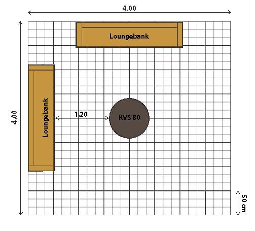 Voorbeeld schets vuurplaats 4x4