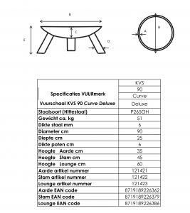 Specificaties VUURmerk Vuurschaal KVS 90 Curve Deluxe1